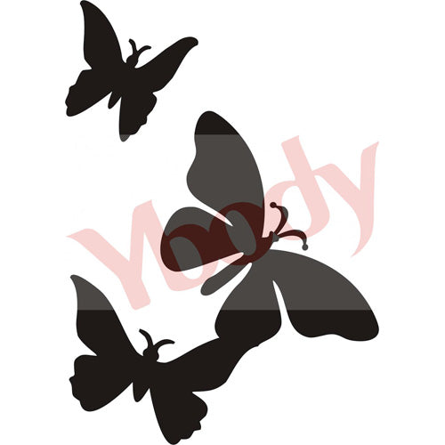 Tattoo Stencil, Butterfly Triple