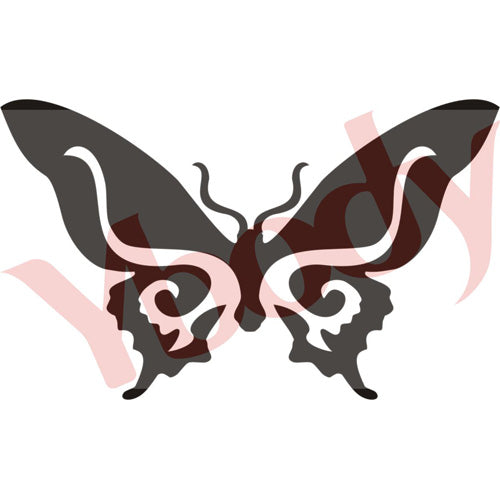 Tattoo Stencil, Butterfly Loop
