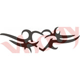 Tattoo Stencil, Heart Deco (Med)