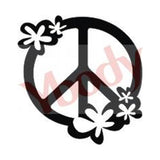 Tattoo Stencil, Peace-Flowers
