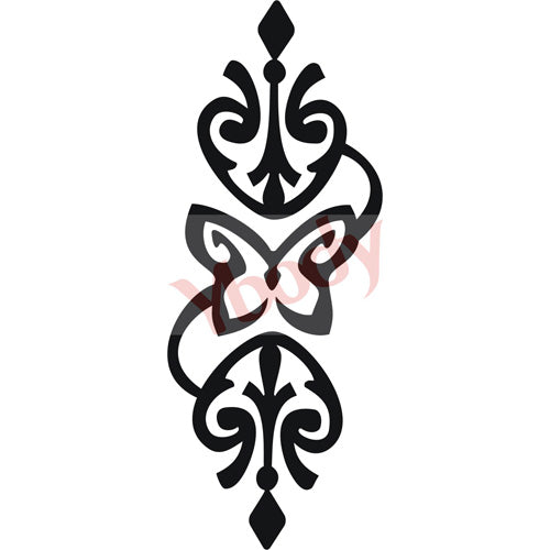 Tattoo Stencil, Butterfly Band
