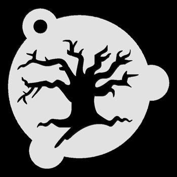 Haunted Tree Stencil