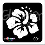 Glimmer body art, Hibiscus (001)