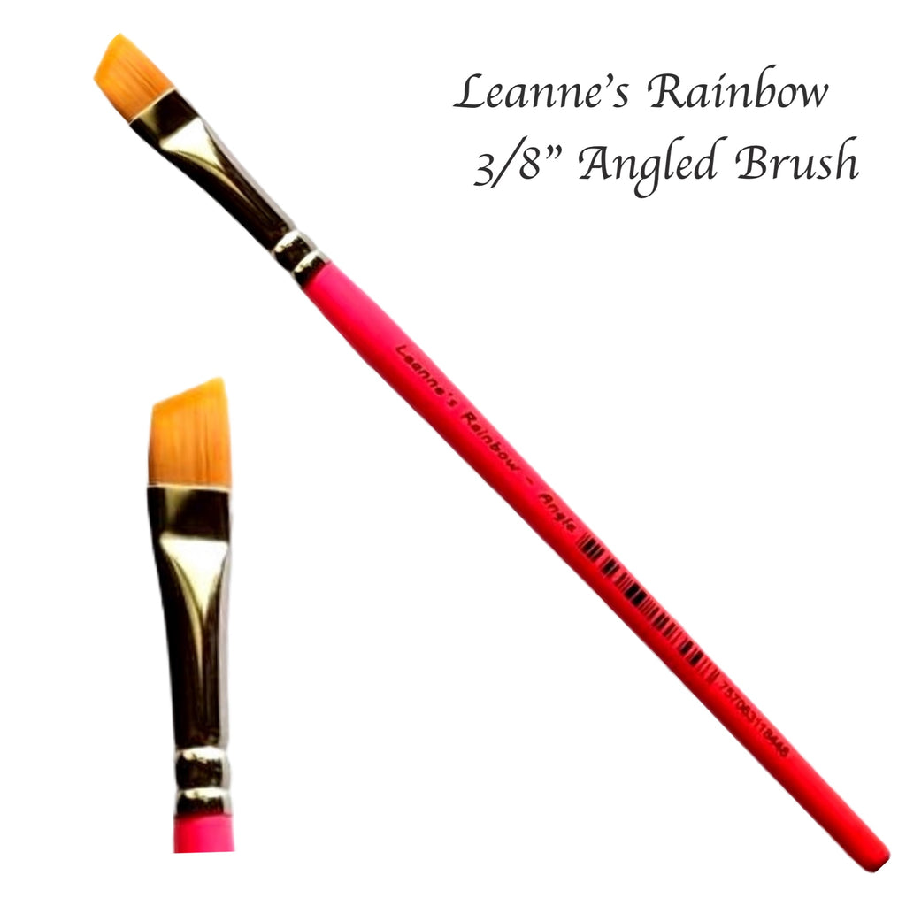 "Leanne's Rainbow, Angle 3/8"" Brush"