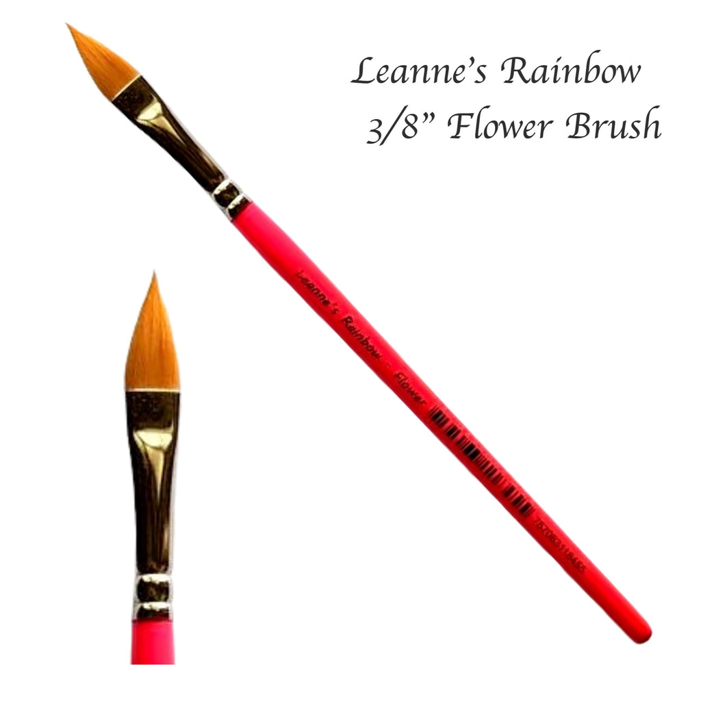 "Leanne's Rainbow, Flower 3/8"" Brush"