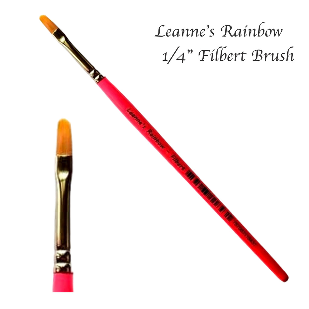 "Leanne's Rainbow, Filbert 1/4""Brush"