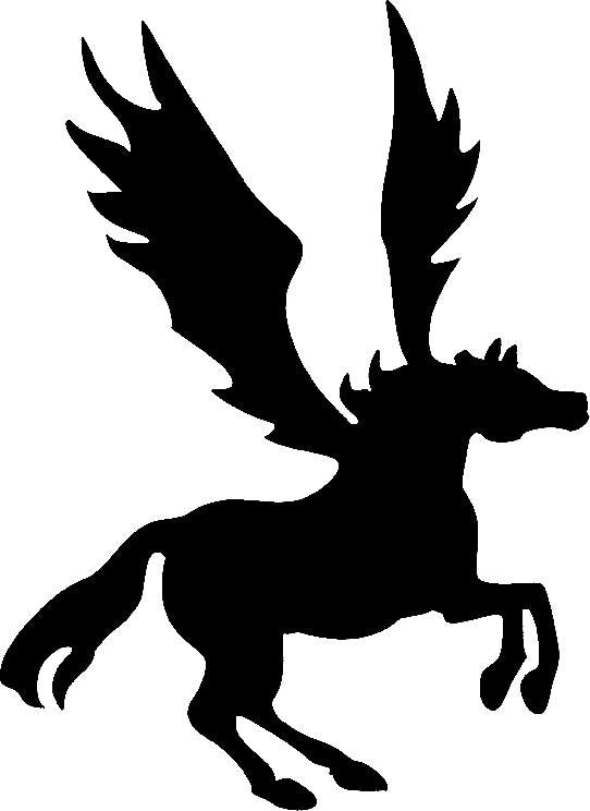 Tattoo Stencil, Pegasus (small)