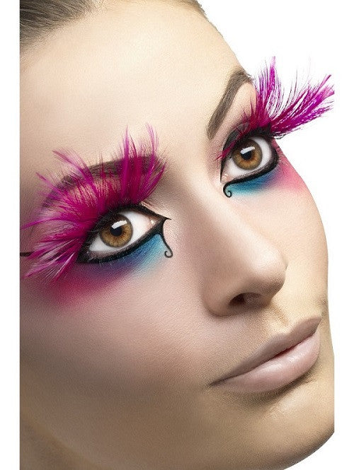 Fever, Eyelashes, Pink with Feather Plumes