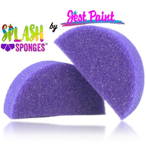 Splash Sponge, Half Moon, 2pc