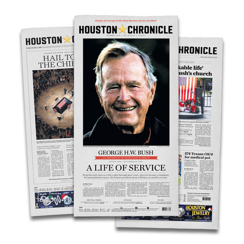 President George H. W. Bush- Commemorative Newspaper Package
