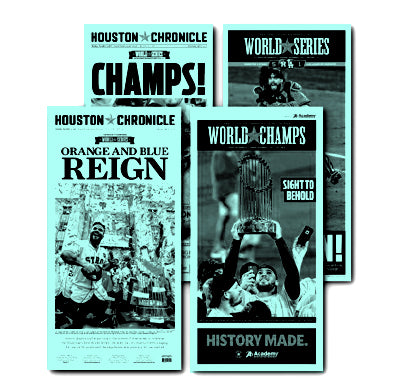 "Astros Historical Front Press Plate Set (11"" X 22"")"