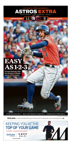 "2018 Post-Season First Round Frameable High Gloss Front-Page Reproduction (11""x22"")"