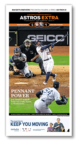 "2019 ALCS Frameable High Gloss Front-Page Reproduction (11""x22"")"