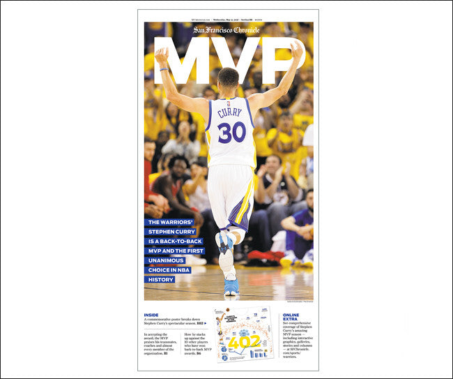 'MVP' San Francisco Chronicle Sports Front Poster
