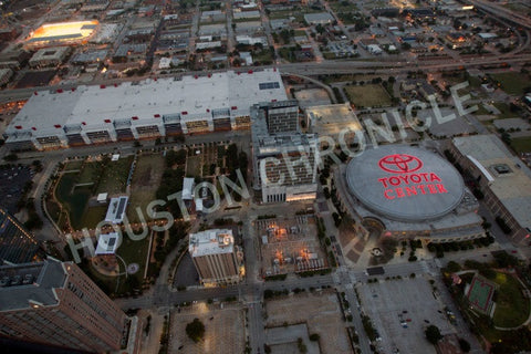 Aerial of Toyota Center