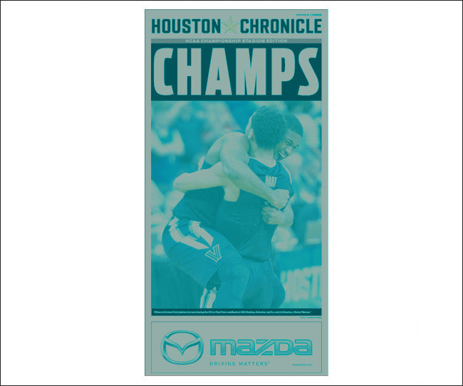 Front Page 'Champs' Wildcats Press Plate