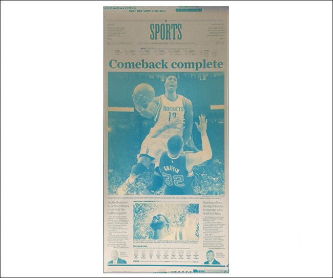 Front Page Rockets 'Comeback Complete' Press Plate
