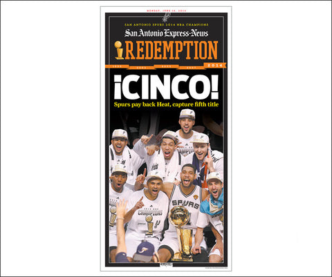 'CINCO' San Antonio Express Sports Front Poster