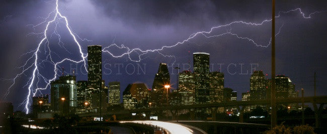 Lightening in Houston