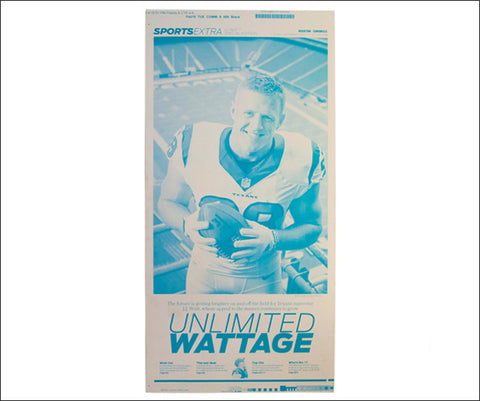 'Unlimited Wattage' Houston Chronicle Sports Press Plate