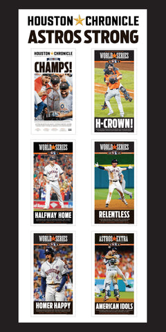 "Astros World Series Sports Front Set of 6 (Heavy Stock 9""X18"")"