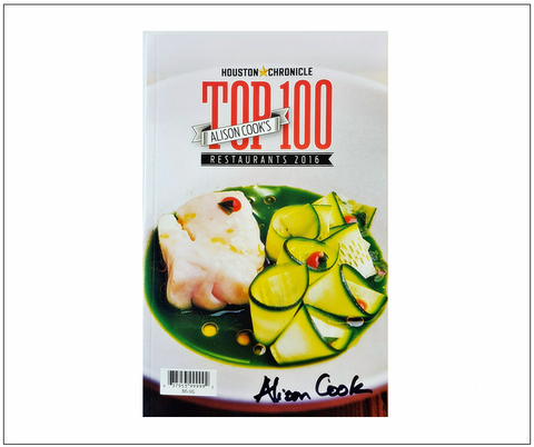 Alison Cook's Limited Edition Hand Signed 2016 Top 100 Restaurants