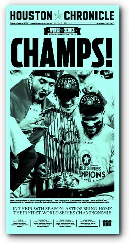 CHAMPS! November 2nd Press Plate (11x22)