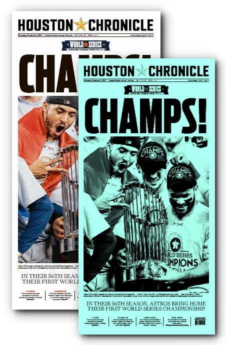 "CHAMPS! Press Plate and High Gloss Poster from November 2nd Issue (11""x22"")"