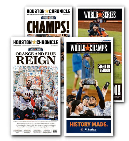 "Astros High Gloss Frameable Historical Front Set (11"" X 22"")"