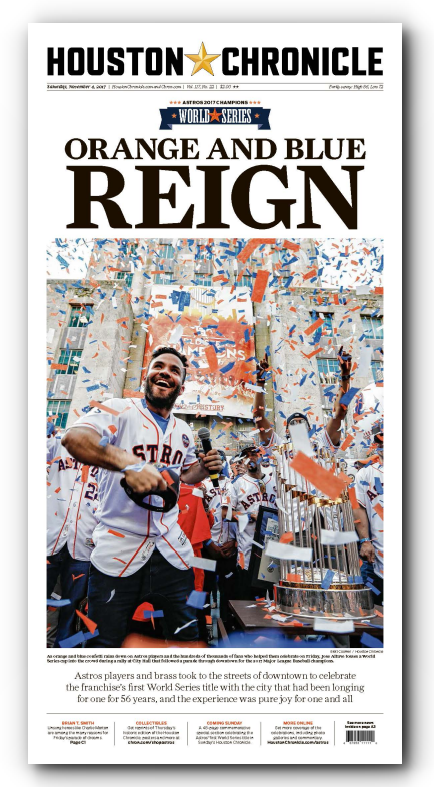 "Orange and Blue REIGN - November 4th High Gloss Frameable Poster (11""x22"")"