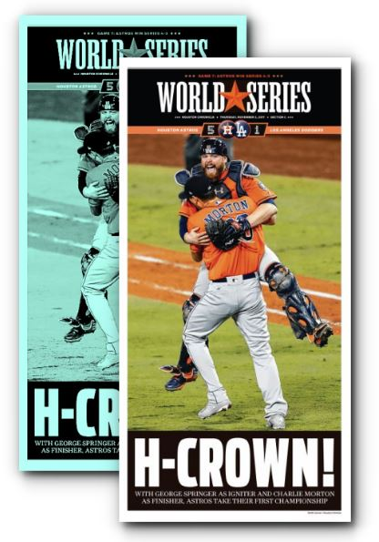"H-CROWN! Press Plate and Frameable High Gloss Front-Page Reproduction (11""x22"")"