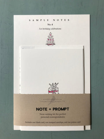 Note+Prompt: Birthday greetings
