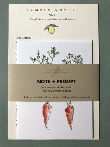 Note+Prompt: Thanks for the gift