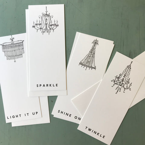 Chandelier card set
