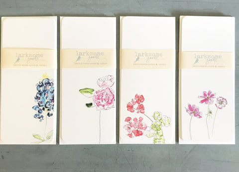 Pretty Flowers long flat cards