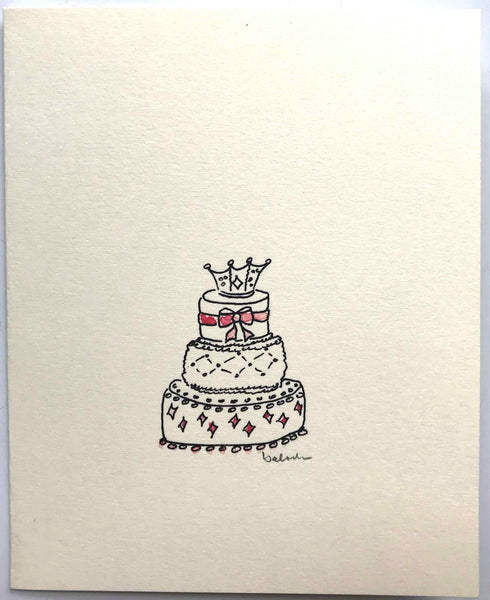 whimsical birthday cake cards