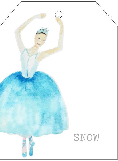 SNOW holiday card