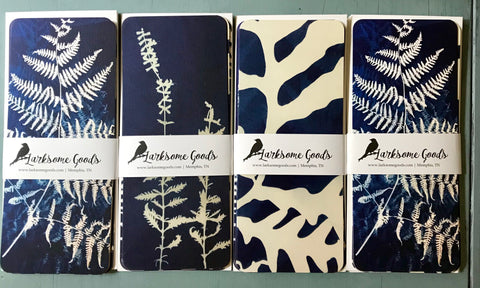 Cyanotype botanical - long flat cards (set of 8)