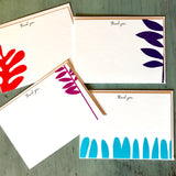 "Abstract Art ""Thank you"" cards"