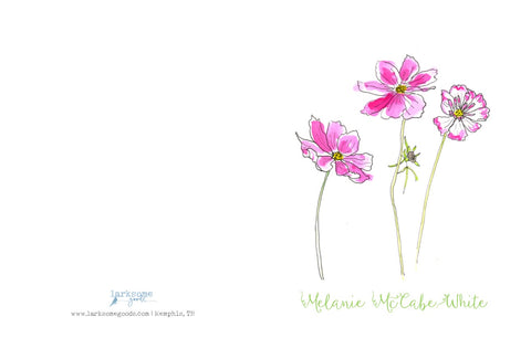 Personalized stationery: floral