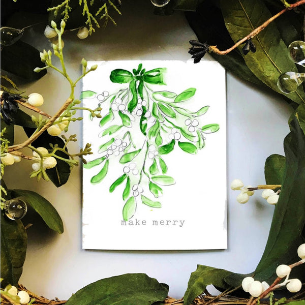 Mistletoe holiday cards