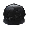 Golden or Black studded LA Baseballcap Hat (Lambskin Leather)