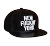 New York Baseballcap Hat - Snapback/Watch (Lambskin Leather)
