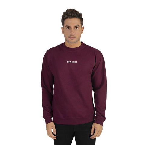 Burgundy New York Sweatshirt
