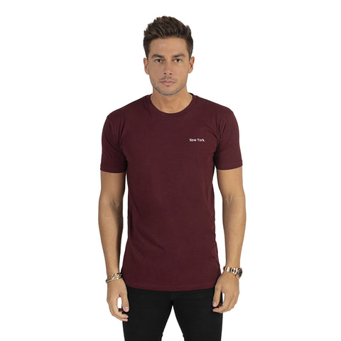 Burgundy New York T-Shirt