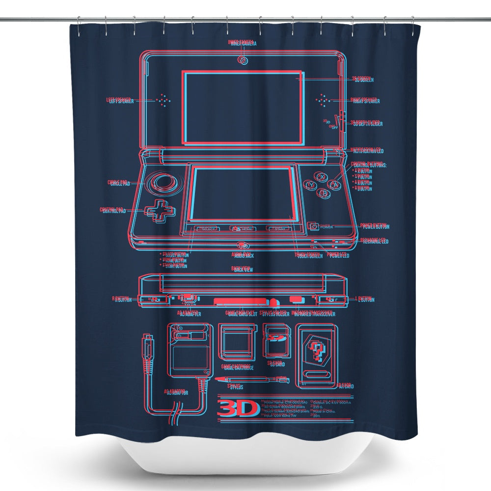 3DS - Shower Curtain