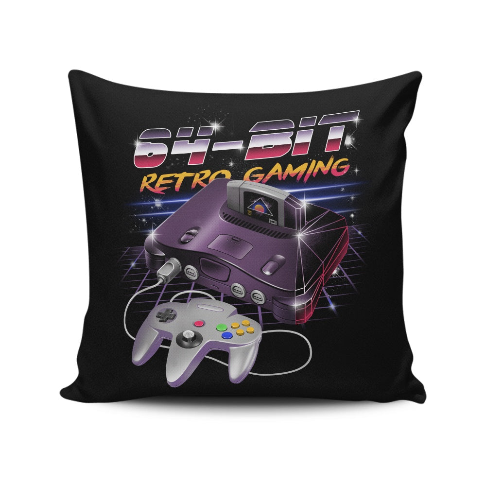 64 Bit Retro Gaming - Throw Pillow