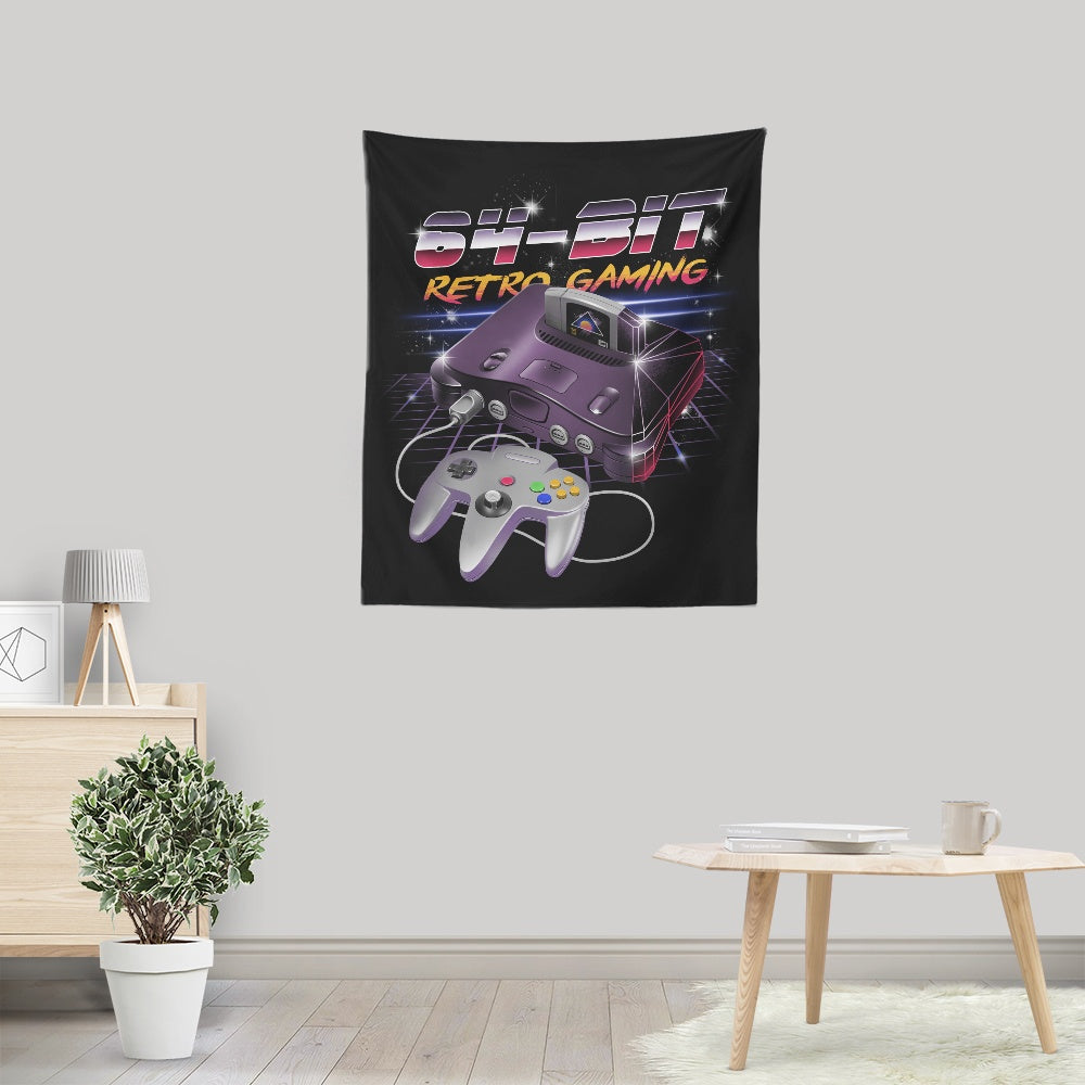 64 Bit Retro Gaming - Wall Tapestry
