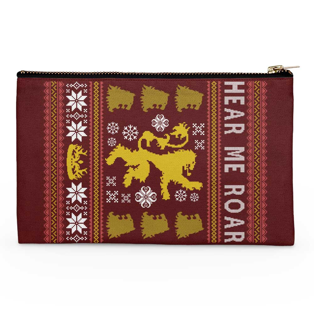 A Lion Always Wraps Their Gifts - Accessory Pouch