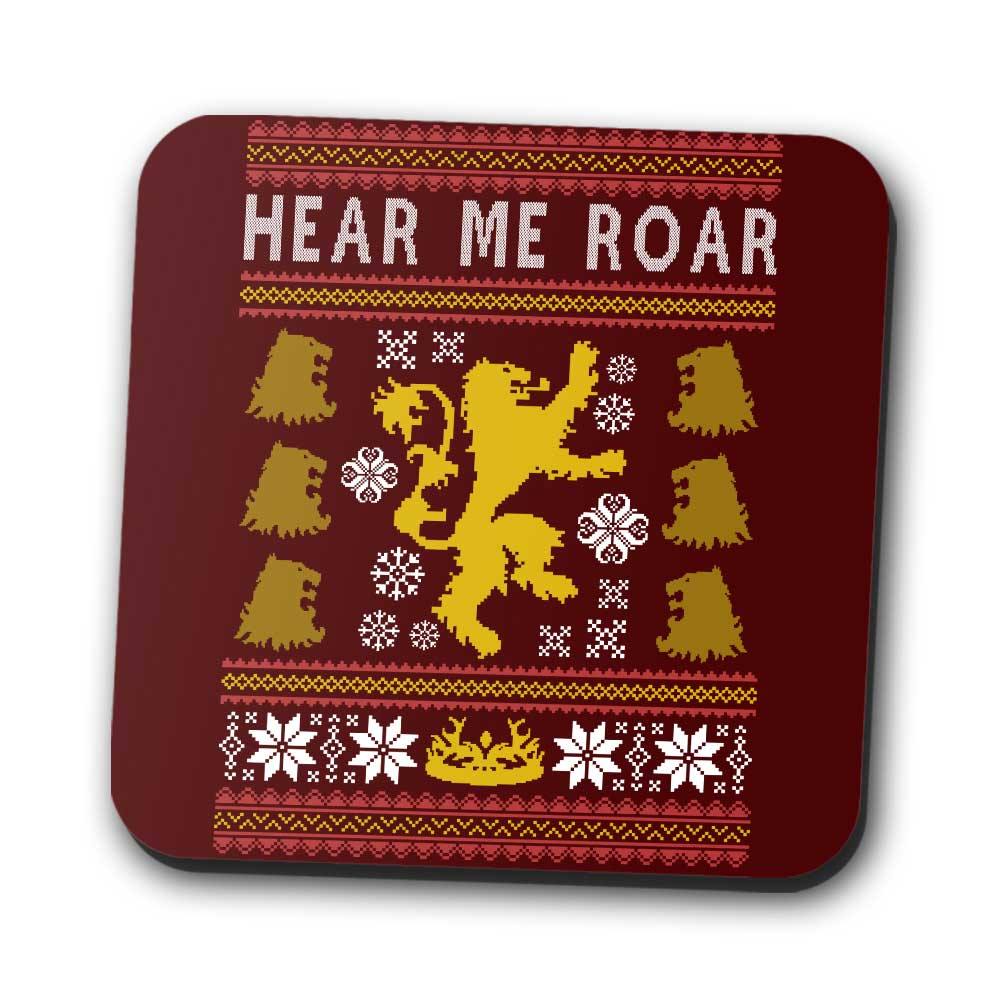 A Lion Always Wraps Their Gifts - Coasters